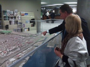 Diane shows a UK investor the development site