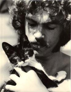 With Baldur the cat