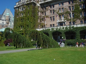 Curious topiaries at The Fairmont Empress, Victoria