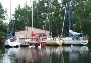 HCYC's floating island clubhouse welcomes sailors from other clubs