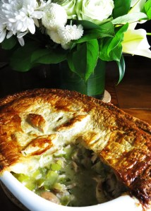 Chicken and leek pie 2