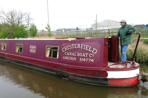 Another narrow boat passing by