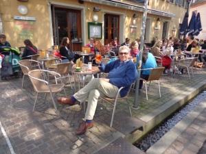 Enjoying the ambience in Freiburg, Germany