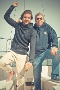 Taylor and I escape the design studio to go sailing