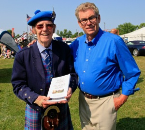 With Scottish author David Webster