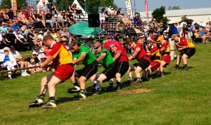 Men's tug of war