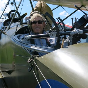 Getting ready to fly in the Sopwith bi-plane
