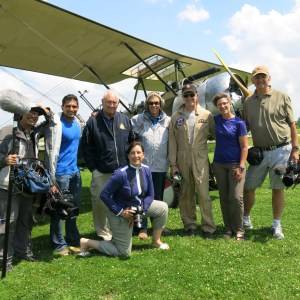 My wonderful crew with Jerry and Mike at the Great War Flying Museum