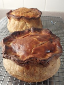Home-made Melton Mowbray-style pork pie