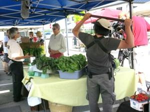 Interviewing farmer Leslie Forsythe