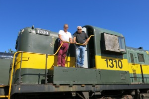 With York-Durham Heritage Railway President Denis Godbout