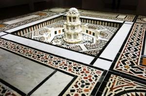 An Egyptian courtyard and fountain