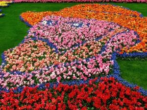 Van Gogh flower mosaic