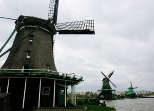 Working windmills at Zaanse Schans