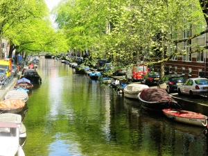 Looiersgracht, the pretty little canal outside our flat