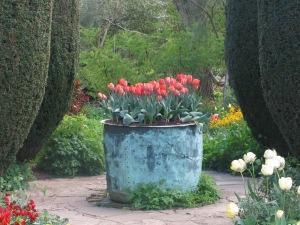A secret garden at Sissinghurst in Kent