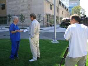 Interviewing Chief Nurse Mary for a Blackout story