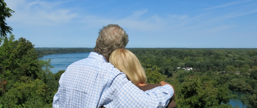 I love this picture of Diane and I overlooking the Niagara Gorge, taken by a bystander.
