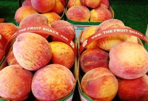Tree ripened peaches at The Fruit Shack