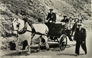 The Queen visits Sark in 1957 - still the best way to get around on the car-less island