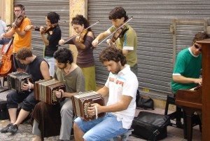 Street musicians in Buenos Aries