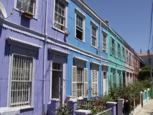 Colouful clapboard houses in Valparaiso
