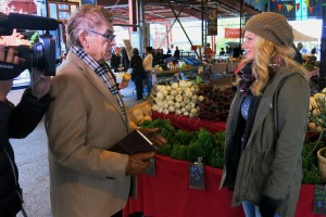 Interviewing Brianna for market to Table