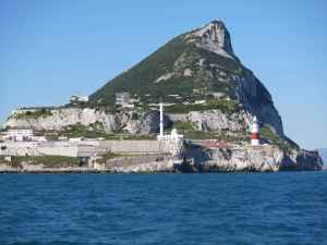 The Rock of Gibraltar - one of the two Pillars of Hercules