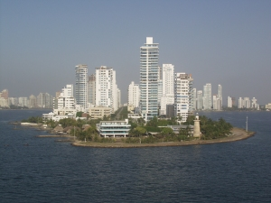 Skyline of Cartagena's waterfront
