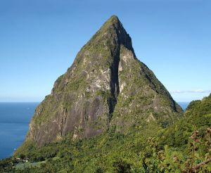 Petit Piton at Soufriere on the island of St. Lucia