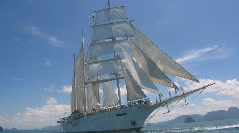 Featured image -- the Star Clipper under full sail