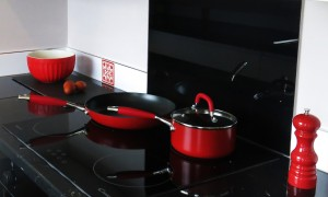 Red accents on the new black top range