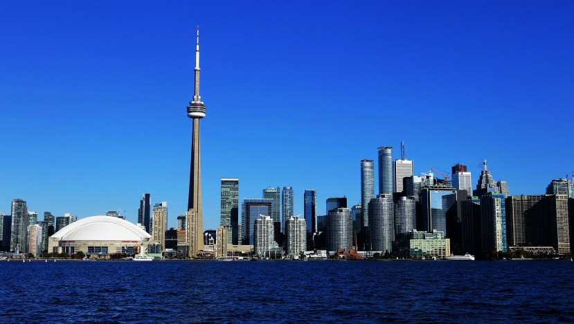 Toronto's downtown skyline from the island