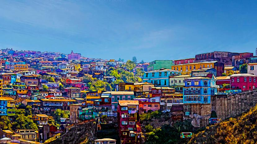 Featured image - colourful houses of Valparaiso courtesy of Kurt van Wagner