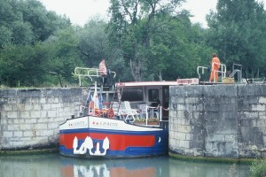 The Lafayette exits a lock