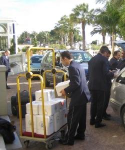 Unloading treasure at The Carlton