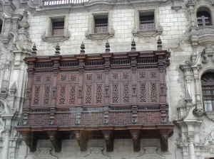 Ornate balcony in Lima