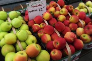 Niagara apples at the St. Lawrence Farmers' Market