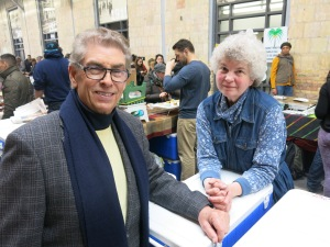 Wendy and I at Wychwood Barns