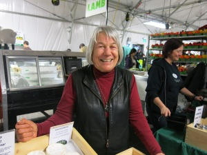 Elisabeth at the St. Lawrence Farmers' Market