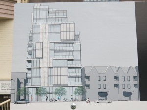 Planning notice shows the true proposed height above what has been approved