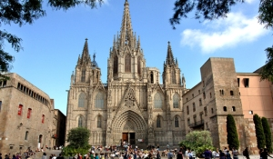 Catedral de Barcelona in the Barri Gotic