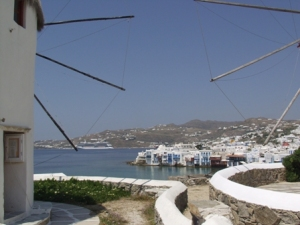 Little Venice section of Mykonos