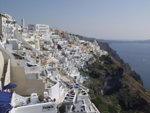 Fira, on the island of Santorini