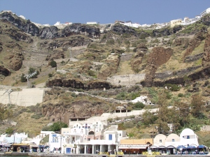 Mesa Yialos, some 300-metres below Fira