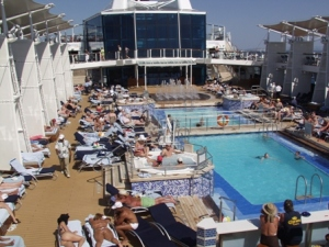 Pool area on the Solstice