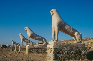 The ruins of an ancient civilization on Delos