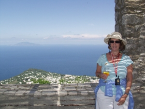 My wife, Gail, enjoys the view