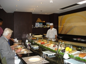 Sushi bar on Crystal Cruise Lines