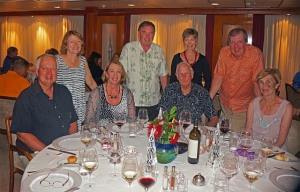 Special occasion dinner on SeaDream Cruises